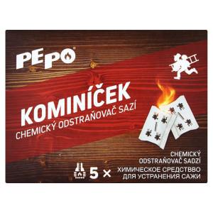 Pe-Po Kominíček 14g,chemický odstraňovač sadzí 5ks 8
