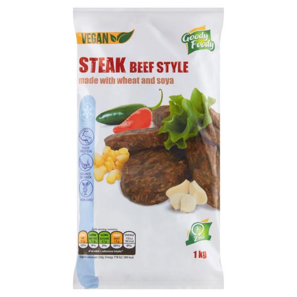 Mr. Vegánsky Steak beef style 1kg, Goody Foody 1