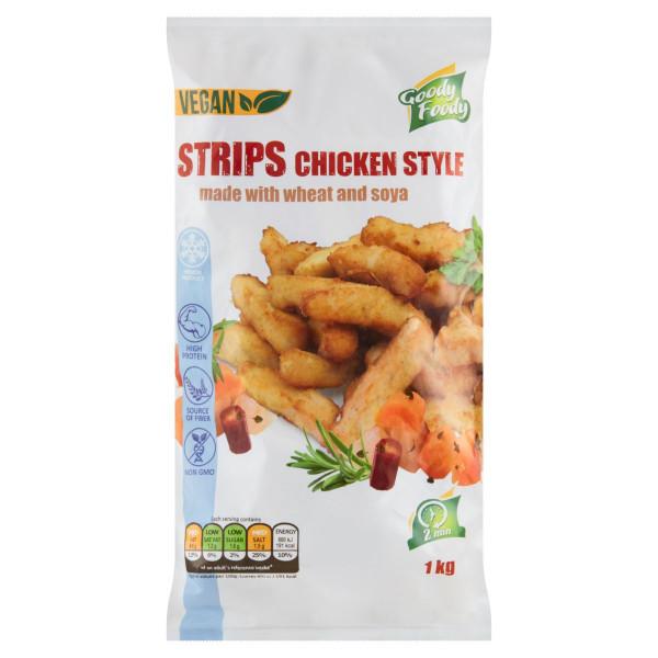 Mr. Vegánske Strips chicken style 1kg, Goody Foody 1