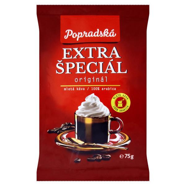 Popradská Extra špeciál pražená mletá káva 75 g 1