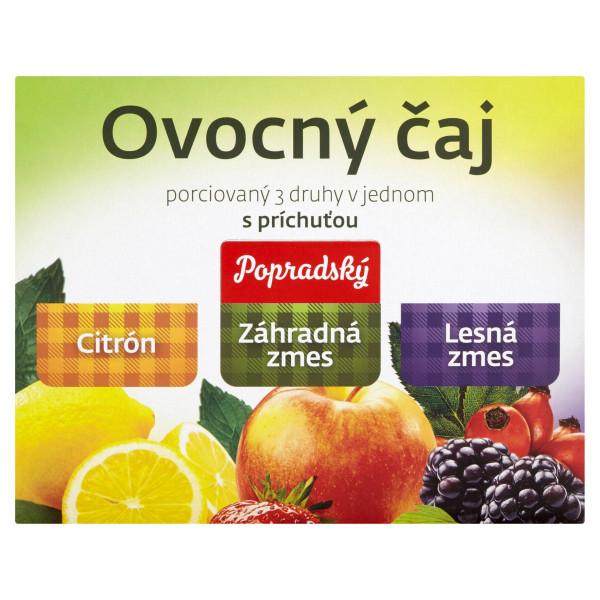 Popradský Ovocný čaj citr,záhr.zmes,les.zmes.90x2g 1