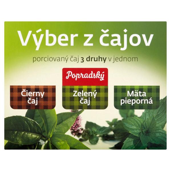 Popradský Výber čajov čierny, zel., mäta HB 90x1,5 1