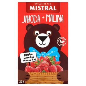 Mistral Jahoda+malina ovoc. čaj s príchuť. 20x2,2g 1