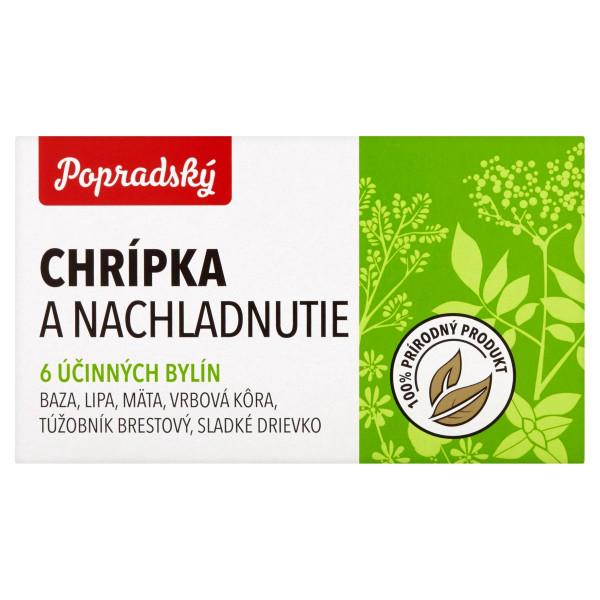 Popradský Chrípka a nachladnutie bylinný čaj 15x1,5g 1