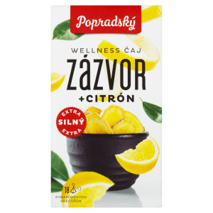Popradský Wellness Čaj zázvor + citrón 18x2g 9