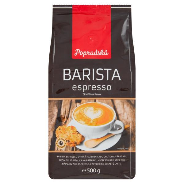 Popradská Barista espresso zrnková káva 500 g 1