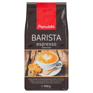 Popradská Barista espresso zrnková káva 500 g 24