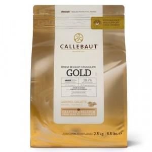 Čokoláda mliečna GOLD CALLEBAUT 2,5kg 6