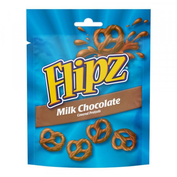 Flipz praclíky v mliečnej čokoláde 90g 1