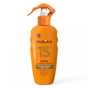 Nubian Mlieko na opaľovanie SPF15 200ml 7