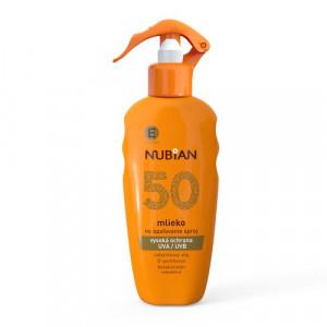 Nubian Mlieko na opaľovanie SPF50 200ml 9