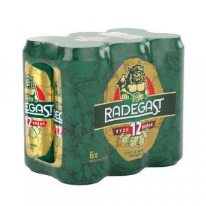 Pivo Radegast rýdzo horké 12° 0,5l plech 6ks 2
