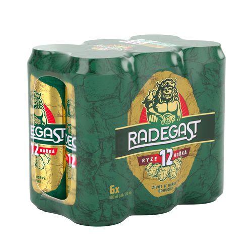 Pivo Radegast rýdzo horké 12° 0,5l plech 6ks 1