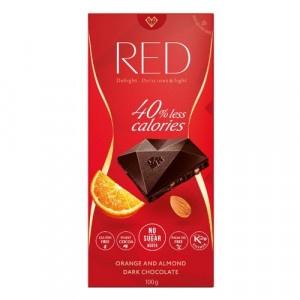 RED Horká čokoláda mandle a pomaranč 100g 7
