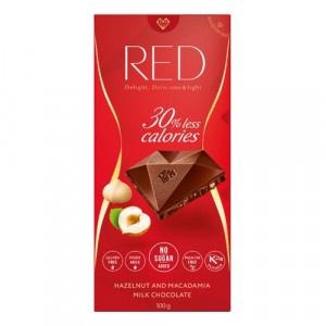 RED Mliečna čokoláda lieskov. a makad. orechy 100g 16