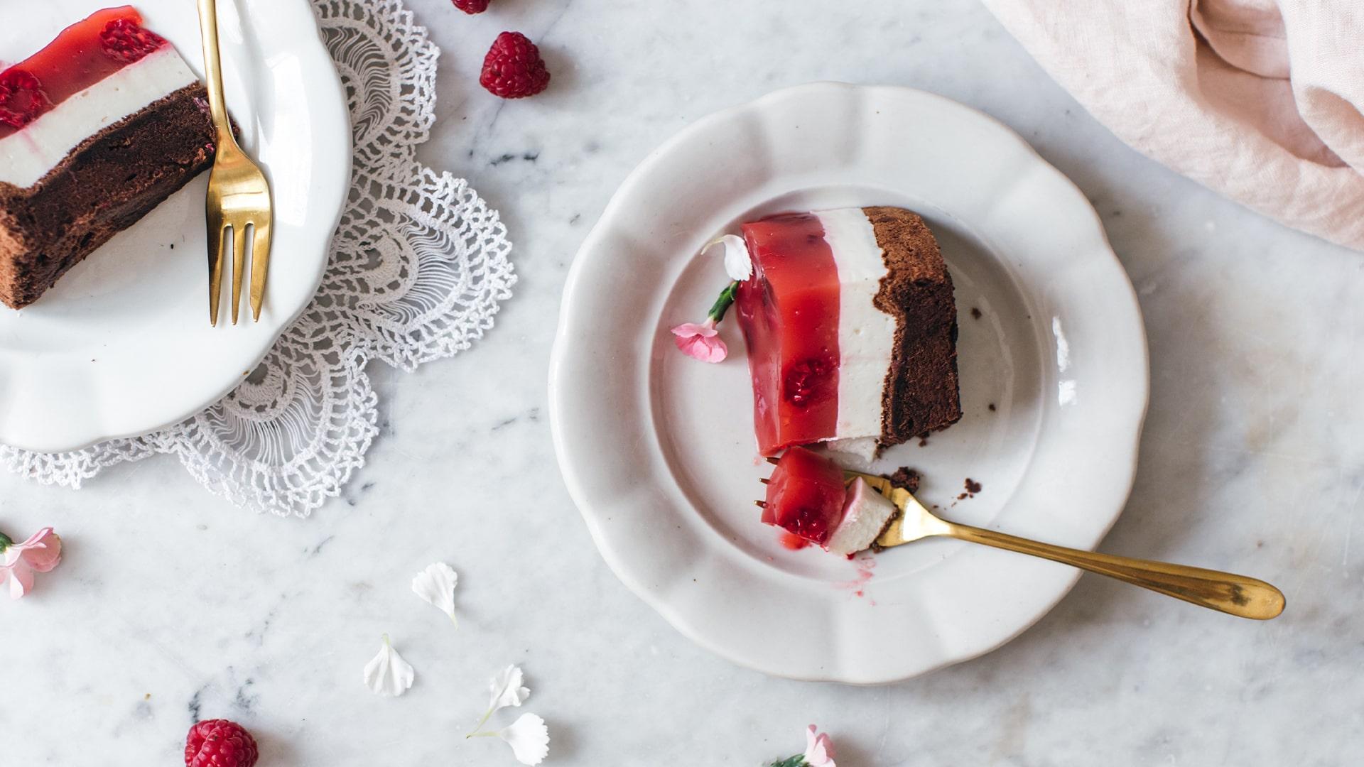 Tvarohovo-malinová torta