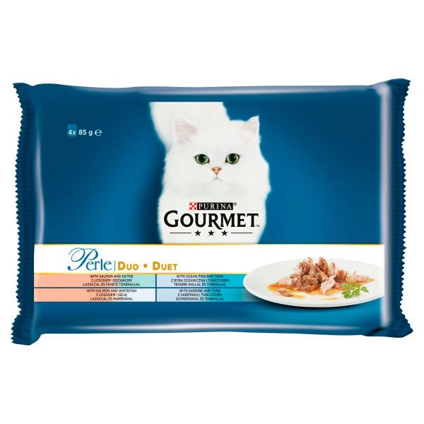 GOURMET Perle Multipack DUO rybací mix 4 x 85 g 1