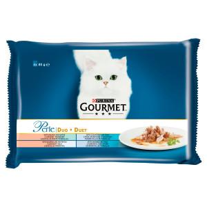 GOURMET Perle Multipack DUO rybací mix 4 x 85 g 12
