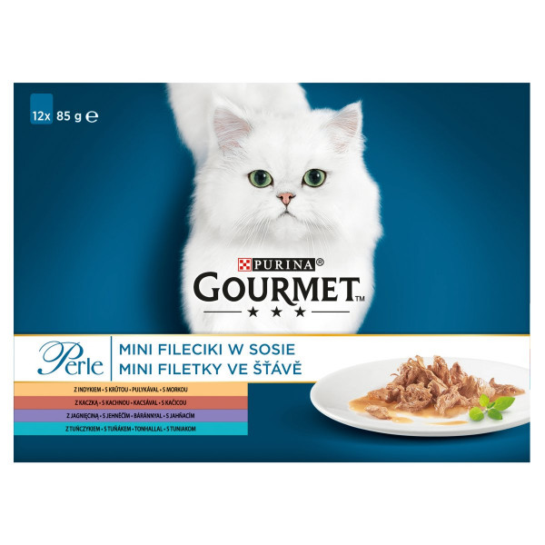 GOURMET Perle Multipack Mix mini filetky 12 x 85 g 1