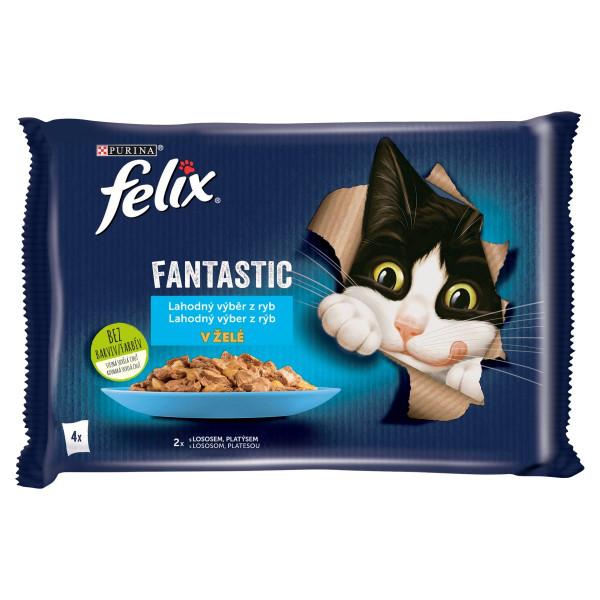 Felix Fantastic losos a platesa v želé 4x85 g 1