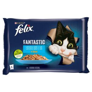 Felix Fantastic losos a platesa v želé 4x85 g 10