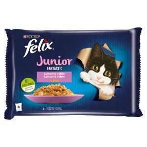 Felix Fantastic Junior kura a losos v želé 4x85 g 8