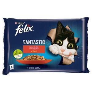 Felix Fantastic hovädzie a kura v želé 4x85 g 7