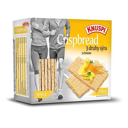 Knuspi Crispbread 150g, 3 druhy syra 1