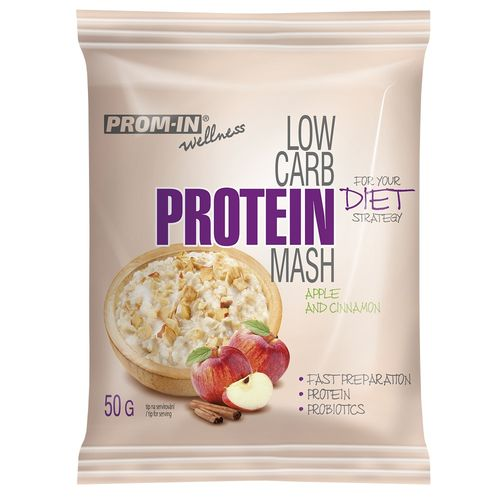 Prom-in Low Carb Protein Mash 50g, jablko škorica 1