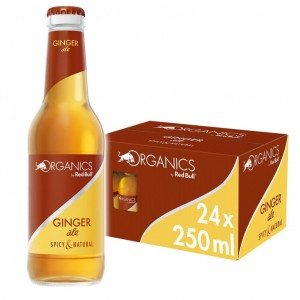 Red Bull Organics Ginger ale 24 x 250ml sklo 6