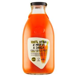 Ovocná šťava mrkva jablko 100% ZDRAVO 0,75l 21