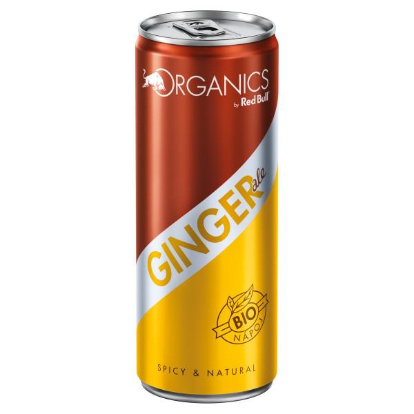 Red Bull Organics Ginger ale 250ml plech 1