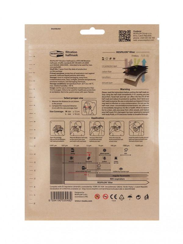 Respirátor Nano FFP2 Carbon RespiPro - 3ks M 3