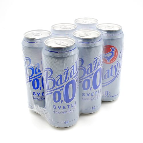 Pivo Zlatý Bažant 0% svetlé 0,5l plech 6ks balenie 1