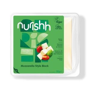 Syr Vegánsky bloček typu Mozzarella Nurishh 200g 13