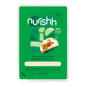 Syr Vegánsky plátky typu Mozzarella Nurishh 120g 16
