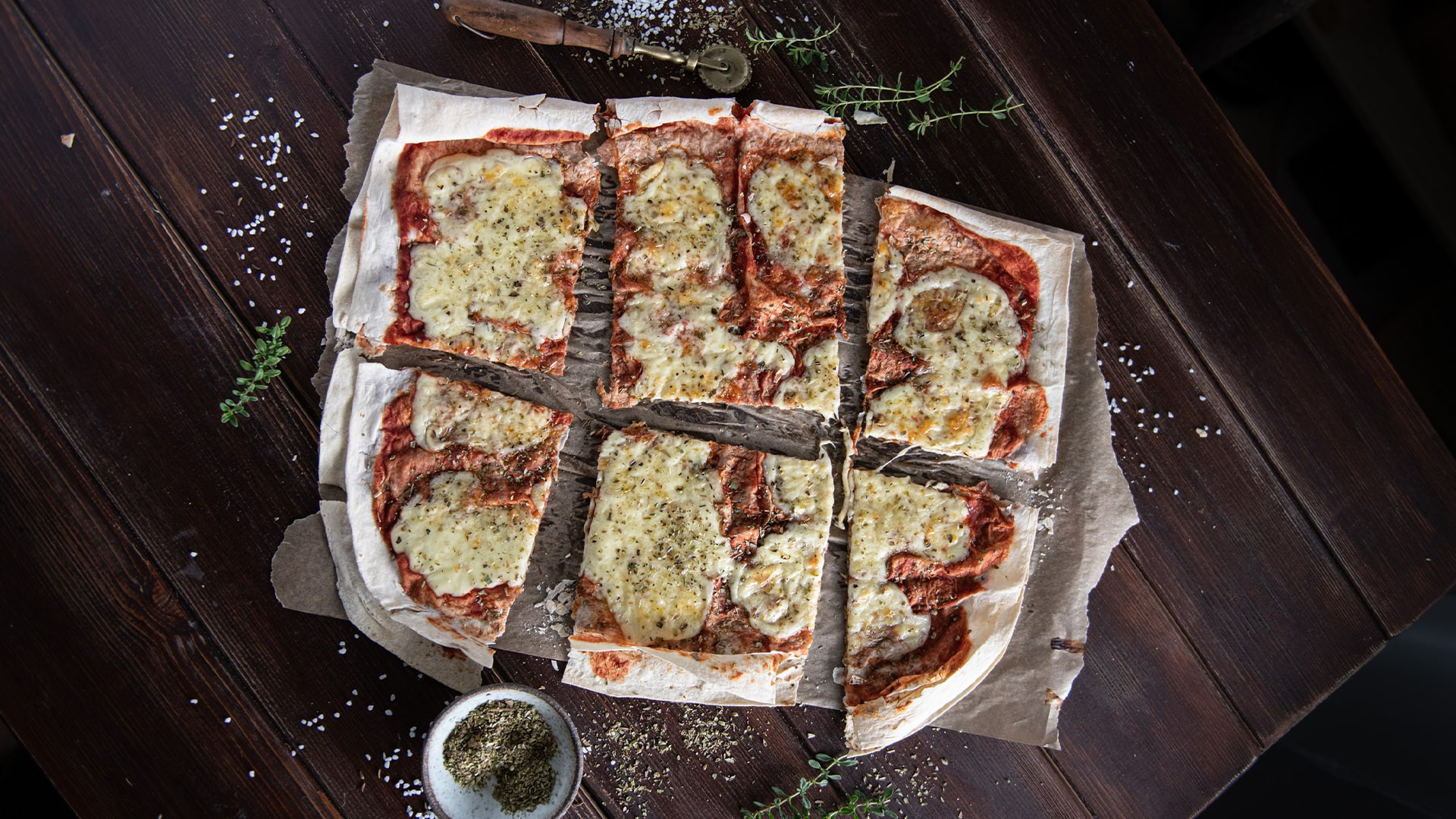 Lavaš mozzarellová pizza