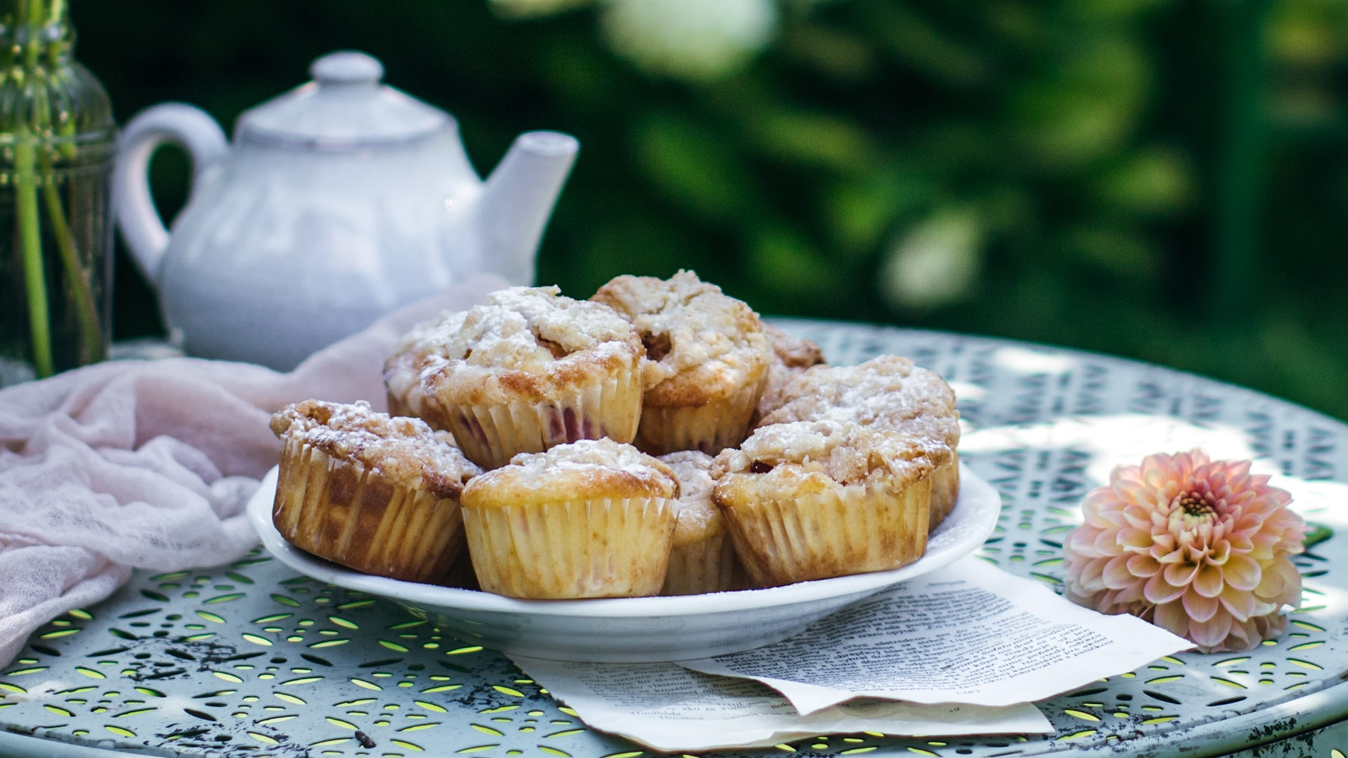 Broskyňové muffiny