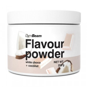 Flavour powder Biela čokoláda, kokos 250g GymBeam 5
