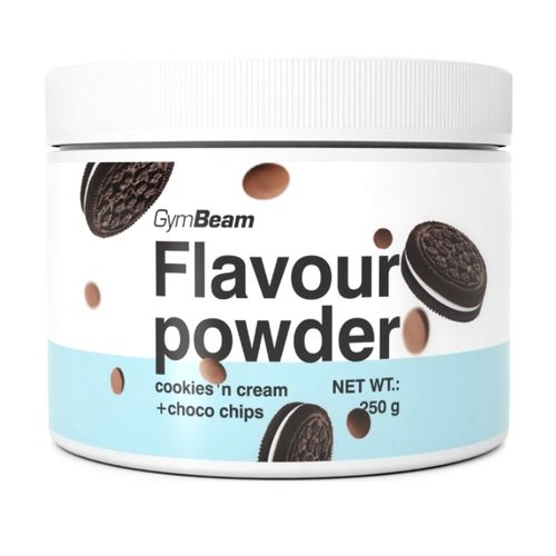 Flavour powder Cookies, choco chips 250g GymBeam 1