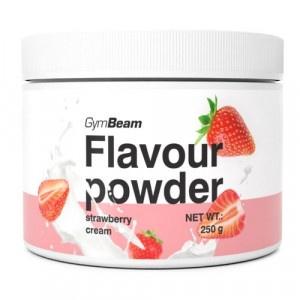 Flavour powder Jahodový krém 250g GymBeam 2