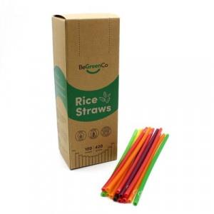 Slamky z ryže 100ks farebné, BeGreenCo 19