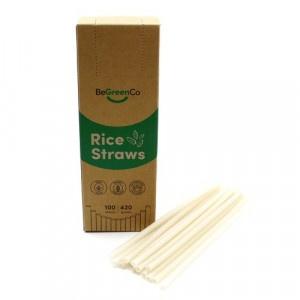 Slamky z ryže 100ks natural, BeGreenCo 20