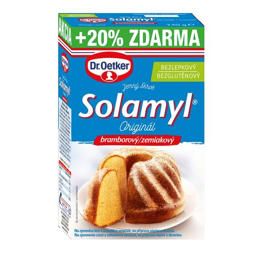 Solamyl jemný zemiakový škrob 200g+20% Dr. Oetker 1