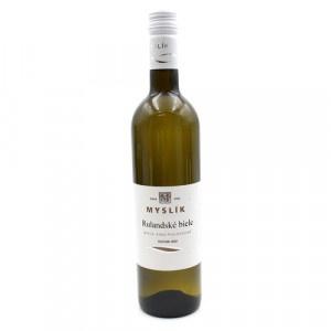 Víno b. Rulandské biele polosuché, Myslík 0,75l SK 10