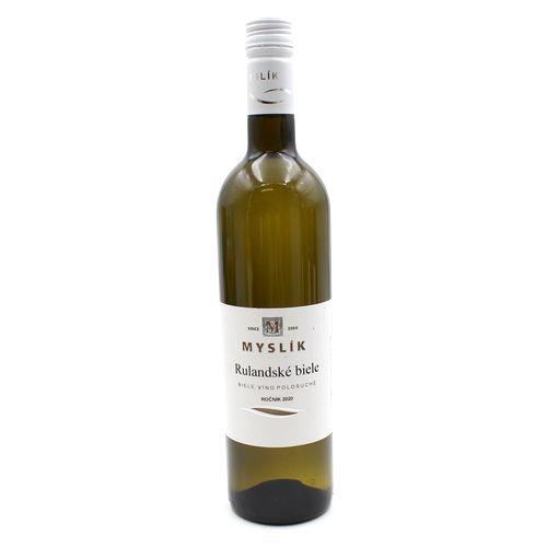 Víno b. Rulandské biele polosuché, Myslík 0,75l SK 1