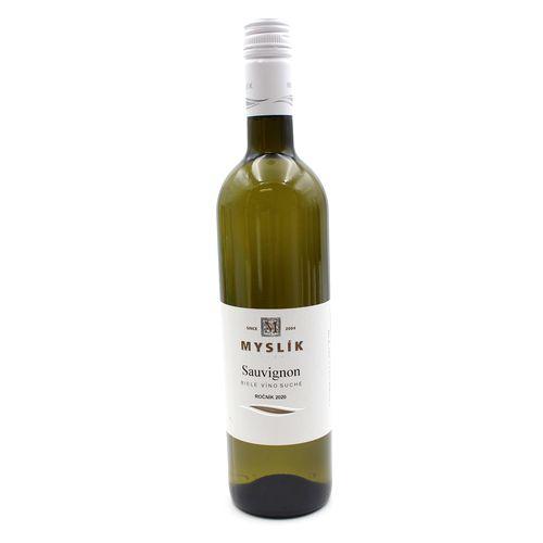 Víno b. Sauvignon suché, Myslík 0,75l SK 1