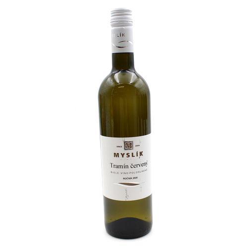 Víno b. Tramín červený polosladké, Myslík 0,75l SK 1