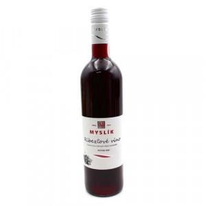 Víno ovocné ríbezľové polosladké, Myslík 0,75l SK 5